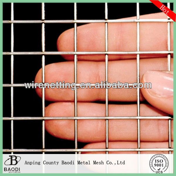 Galvanized Metal 1x1 welded wire mesh