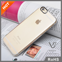 Untra slim Clear Hard Back PC Transparent Phone Case Hard Bumper Cover Case For iphone 6s 6s plus with black ring
