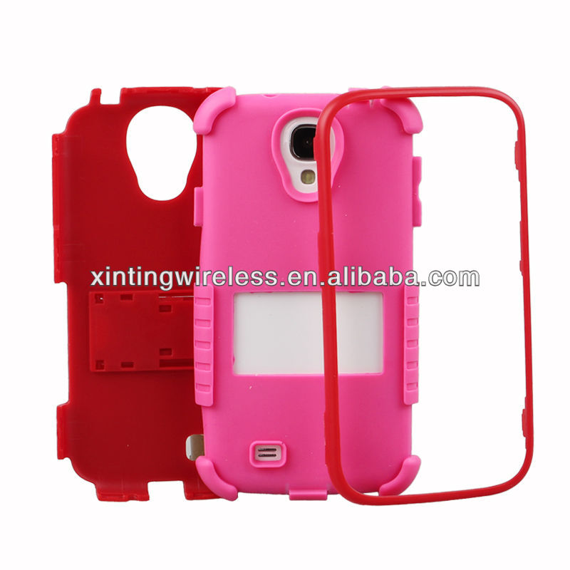 3in1 Combo pc+silicone case for Samsung Galaxy S4 i9500