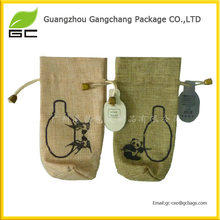 Best quality custom printed packing bag wholesale small jute bags drawstring