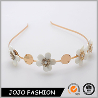 Fashion plastic flower design hair hoop beautiful rose gold hair accessories for women
