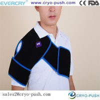comfortable shoulder brace / double belt pack for athlete sports player office de-stress