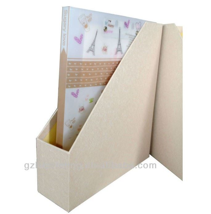 clear high quality paper file box for workplace