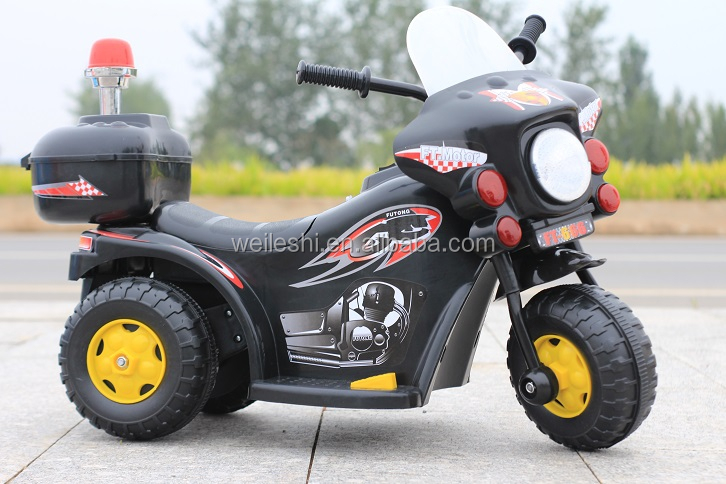 mini police motorcycle ride on car baby rc ride on cars opening door toy made in China