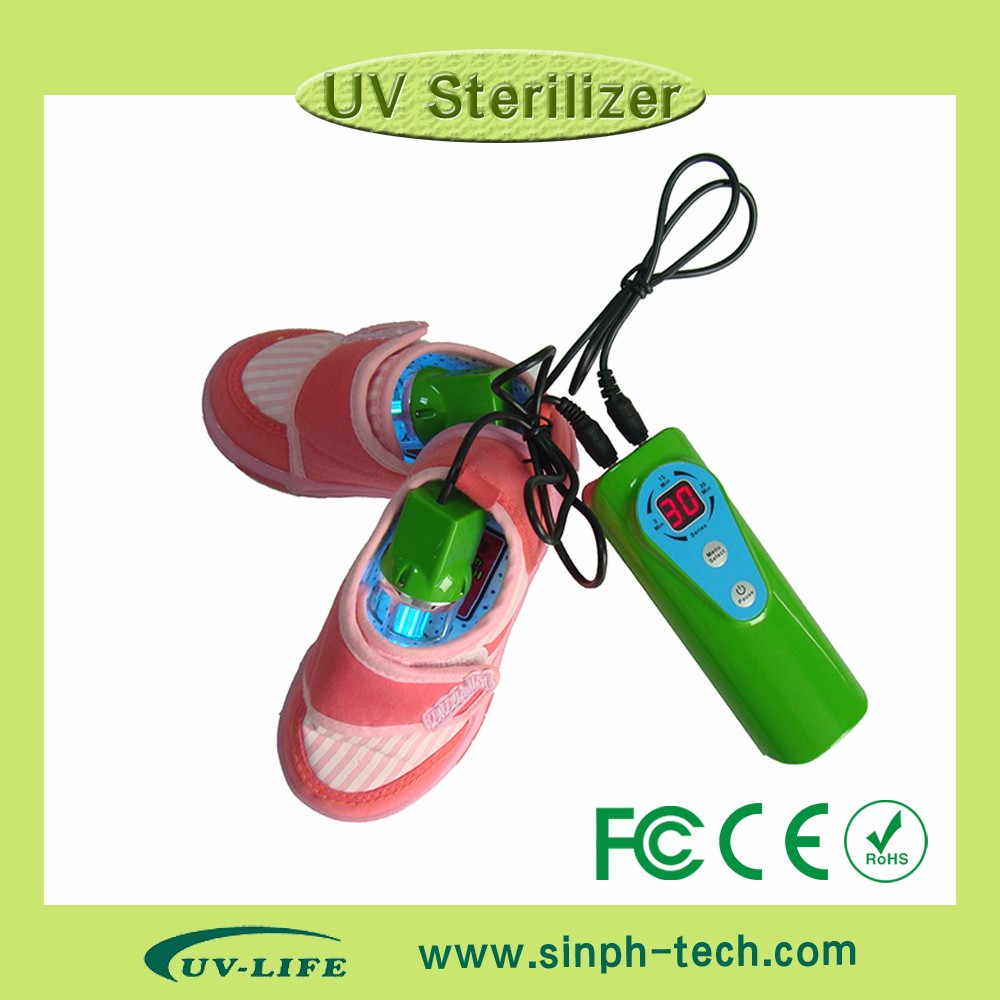 UV lamp 253.7nm Ozone remove bad smell kill 99.99% bacteria uv shoe sanitizer