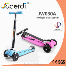 Patent 2014 new model foldable scooter double front wheel scooter kids 4 wheel scooter