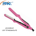 OEM Your own brand professional hair beauty tools home use hair straightener advanced titanium hair flat iron
