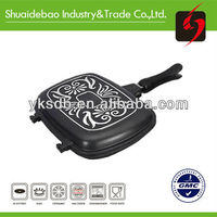 korea style Die-casting ceramic air frying pan with on stick