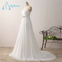 Bandage Criss-Cross Pleats Chiffon Empire Summer Wedding Dress