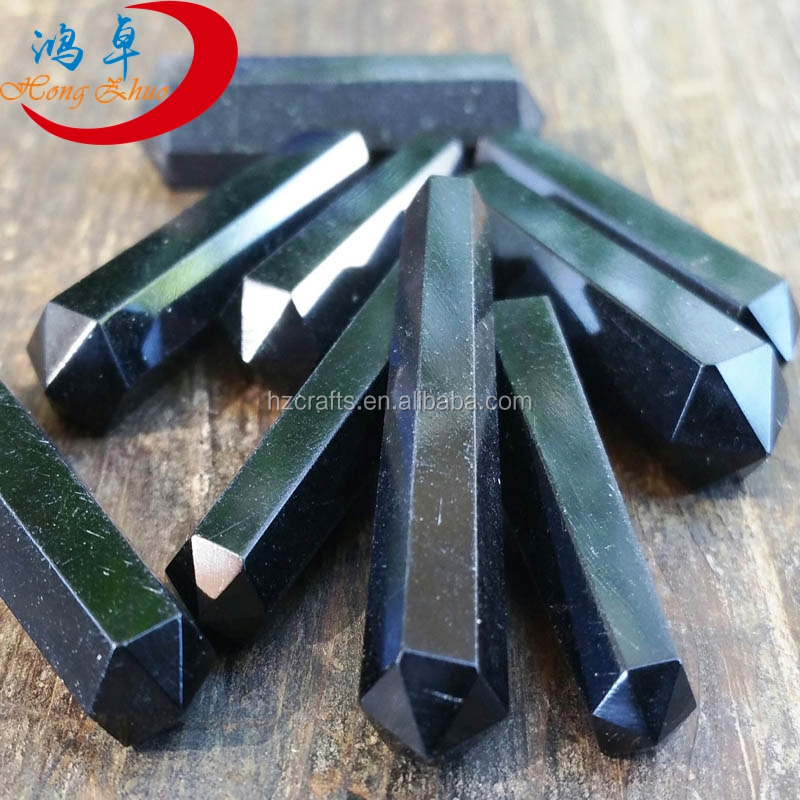Natural Rock Obsidian Wands Terminated Point For Sale Rough Gemstone Obsidian Carves Terminated Crystal