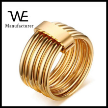 Unique style 6 in 1 stainless steel gold finger ring rings design for women with price