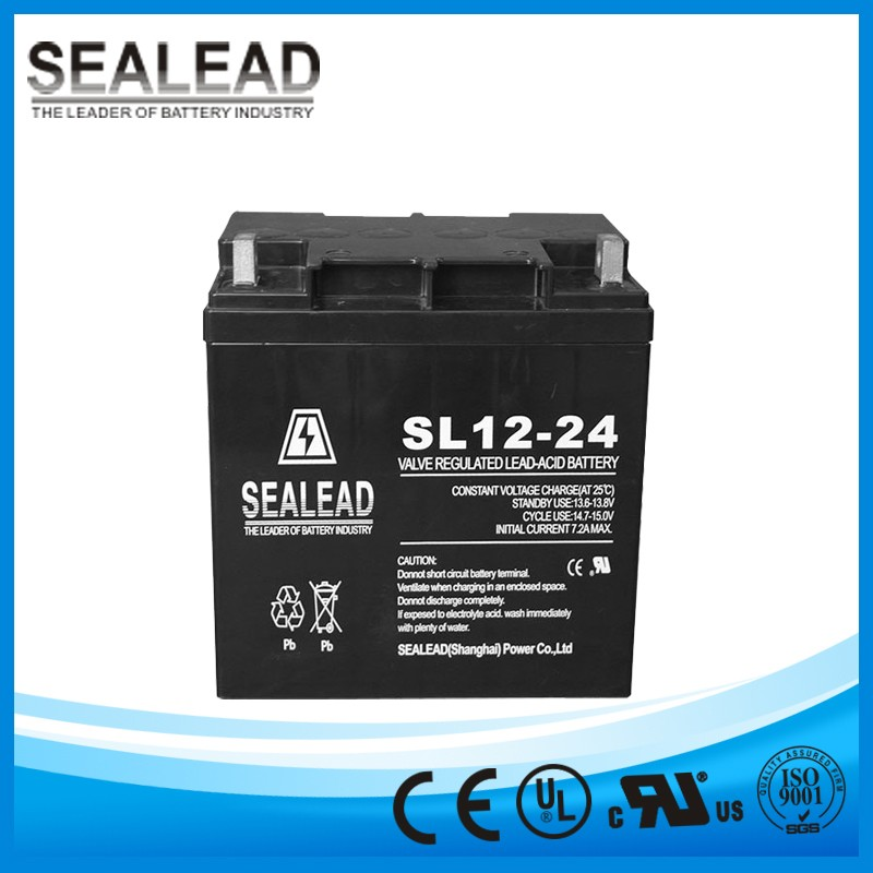 Excellent safety performance 12v 24Ah AGM rechargeable battery for emergency lamp