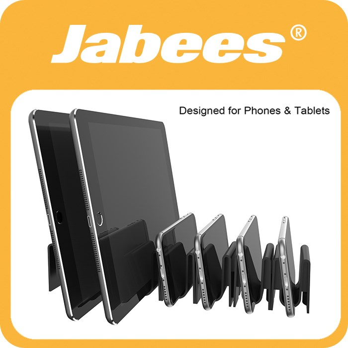 Jabees 6 Rubber Buckle Straps Detachable Electric Vehicle Portable Power Mobile USB Charging Station