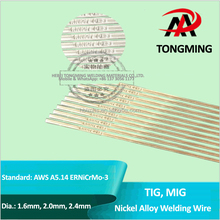 TIG, MIG Nickel alloys welding wire, AWS A5.14 ERNiCrMo-3, TM-ERNiCrMo-3