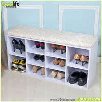 Germany popular storage cabinet shoe bench with cushion