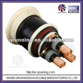 8.7/15(17.5)kV YJV22 Ningbo QRUNNING KUKUN Cable CU/XLPE/STA/PVC Medium Voltage Armoured Power Cable
