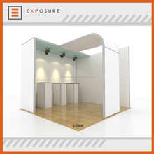 advertising equipment 3x3 exhibition booth with led light or not for option