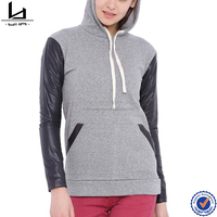 Hui Lin Apparel high quality blank dir fit women two tone wholesale hoodies