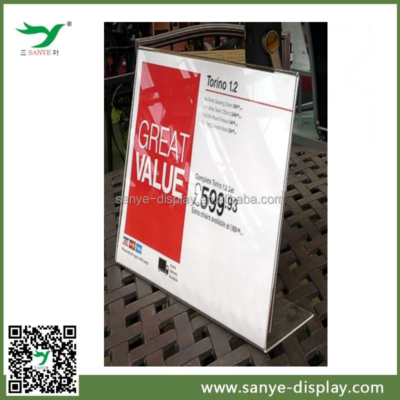 acrylic menu stand flexible display price