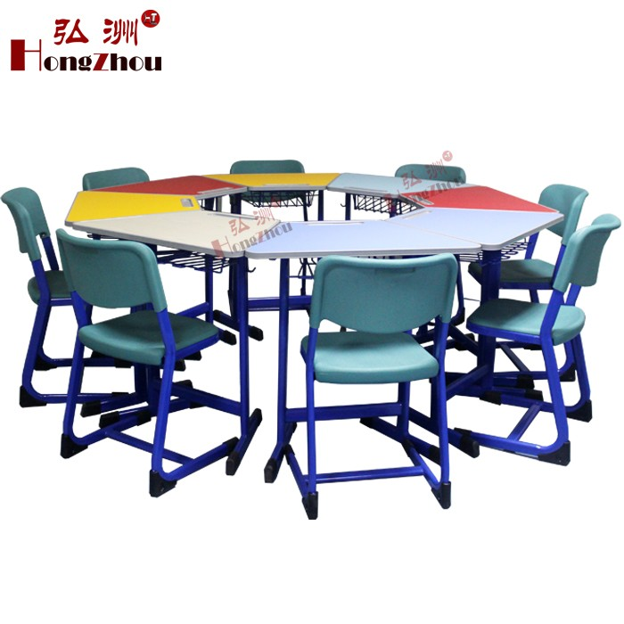 Supply Antique Kindergarten School Furniture Wooden Folding Table And Chairs