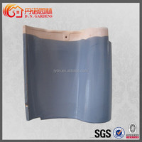 glazed blue spanish s type roof tile for western style building roof