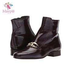 High Quality Italy Design Chunky Heels Sex Horse Riding Ladies Genuine Leather Boots