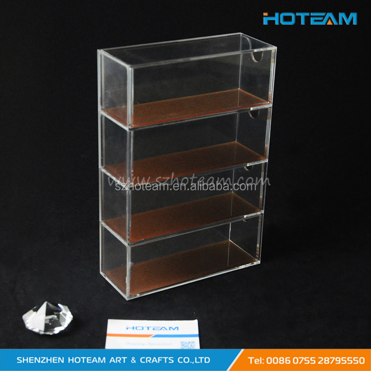 Clear Acrylic 4 Compartment Hinge Lid Nespresso Capsule Holder