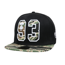 Cap And Hats In China Manufacturer Customize 6 Panel Flat Peaked Black Applique Snap Cap