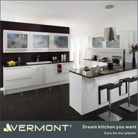mordern vinyl wrap kitchen cabinet