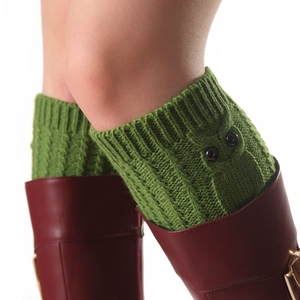 Choose your color Gift Fashion New Crochet Knit Owl Boot Cuffs for Women