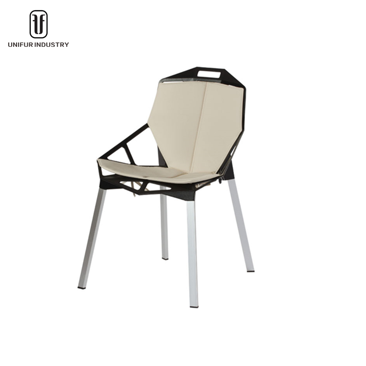 Modern replica popular aluminum konstantin grcic chair one with cushion