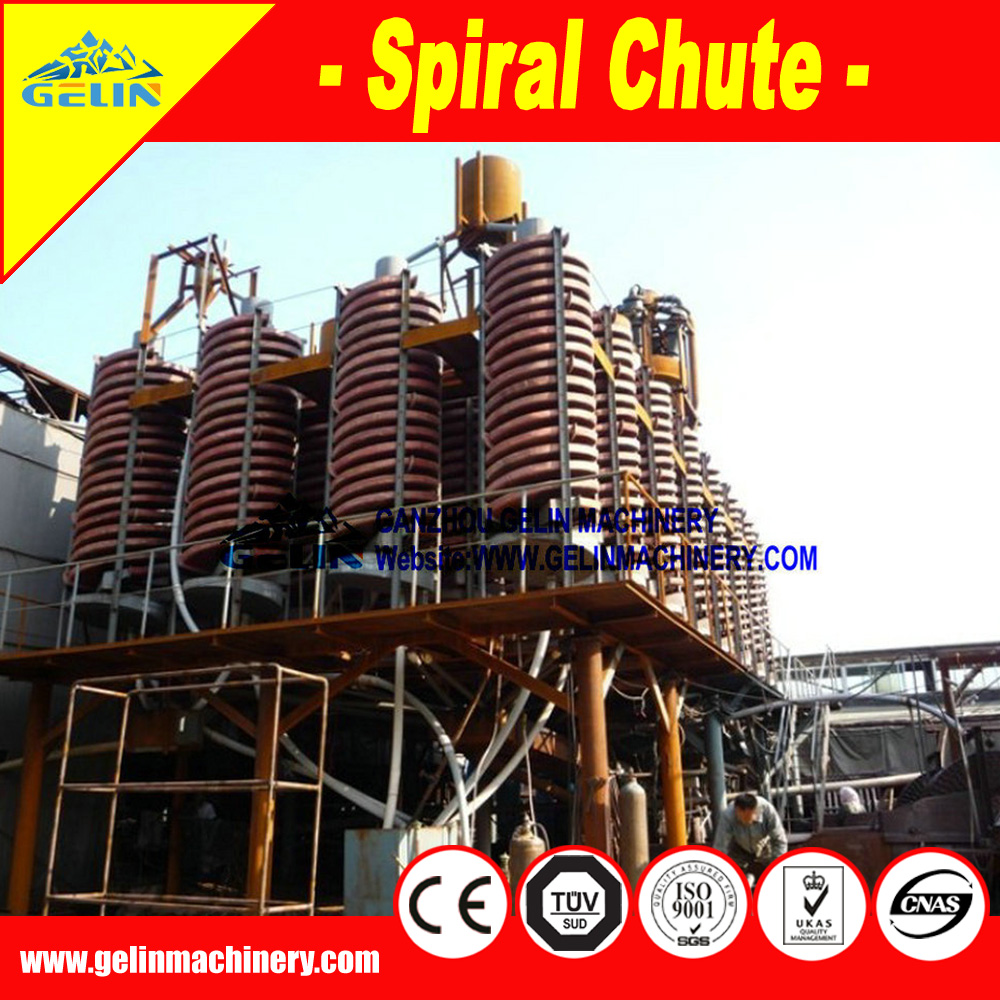 anti corrosion,anti rust spiral concentrator Gravity Spiral separating chute