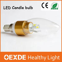 C35 Glass shape alibaba express 3w E14 E12 US led candle bulb lighting