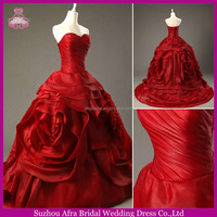 SW1110 sexy beautiful red organza tiered skirt buying wedding dresses from china