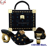 CSB1280 New fashionable italian wedding shoes and matching bag set women