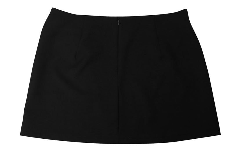 Black tied fashion skirts with metal rings