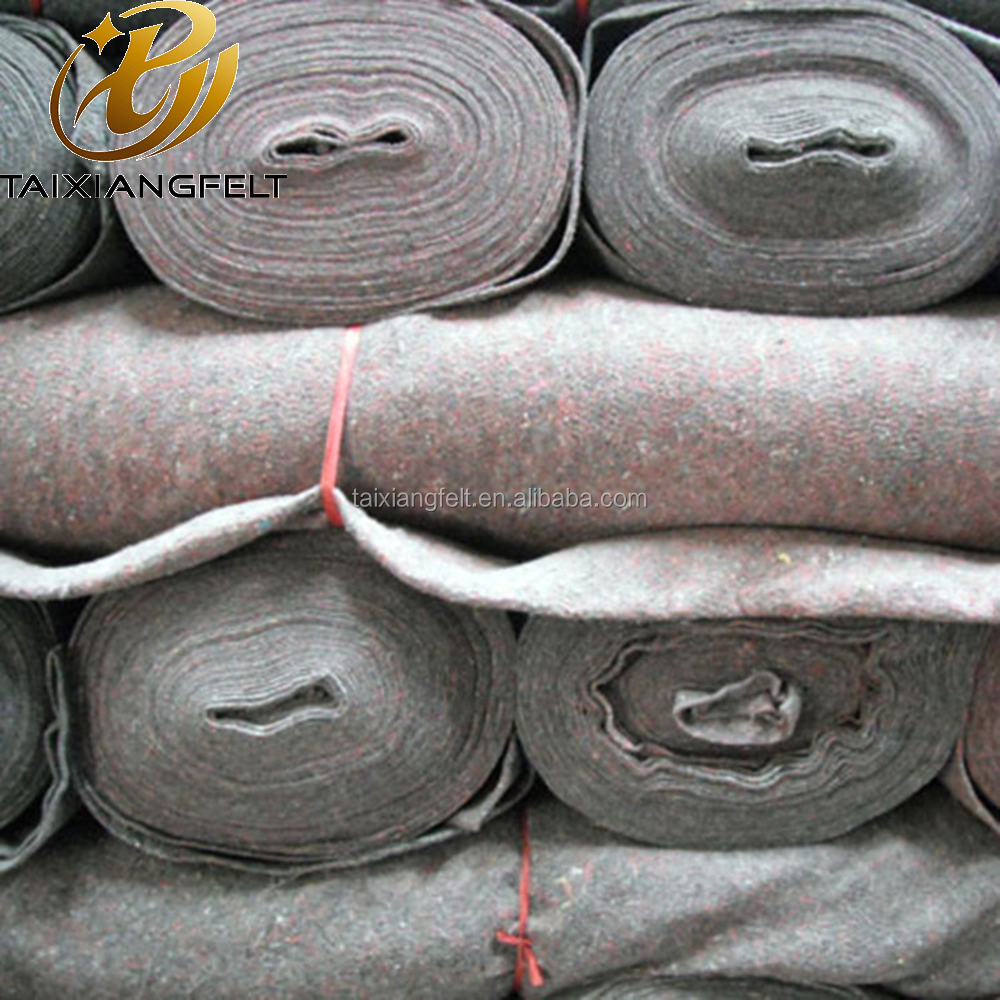 Needle punched wool felt, carpet, fabrics for mattress and sofa and furniture packing