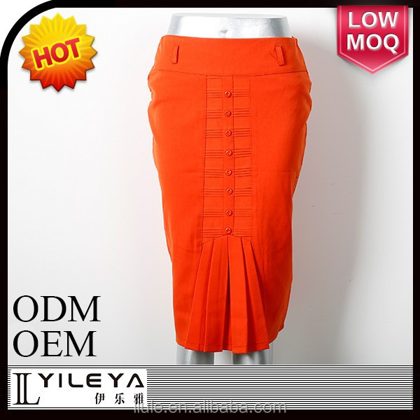 orange ladies formal fancy skirt top designs and blouse