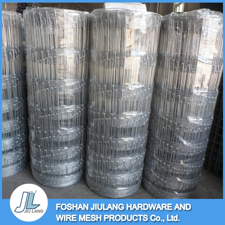 hot dipped galvanized corrosion resistant 2.5mm/2.0mm farm guard field fence
