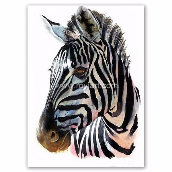 Handmade home goods modern wall art canvas zebra animal oil painting