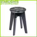 MDF wood round seat dining chair