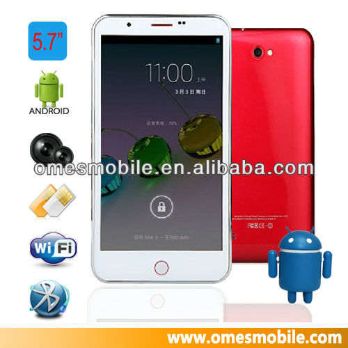 "China MTK6589 P5 5.7"" inch quad core smart mobile phone"