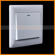 Working Condition Led Indicator Display Durable Panel 1 Gang Electrical Light Switch