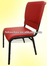 Hot selling red cushion with bookshelf church seat YC-G36A