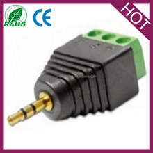 Adapter Stereo plug 2.5mm Terminal 3pin pitch 5.0mm