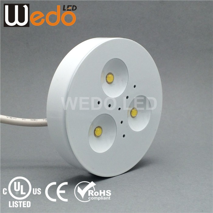 LED Under Cabinet Downlights with White finishing, Retrofit Dimmable