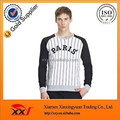 Baseball sportswear sweatshirts,raglan striped oversized sweatshirts