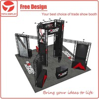 Yota offer 6x6 booth, 20 ft x 20ft Aluminum truss booth with circle shape for trade