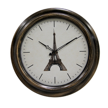 18 inch Eiffel Tower Retro Clock Waterproof Outdoor Wall Clock