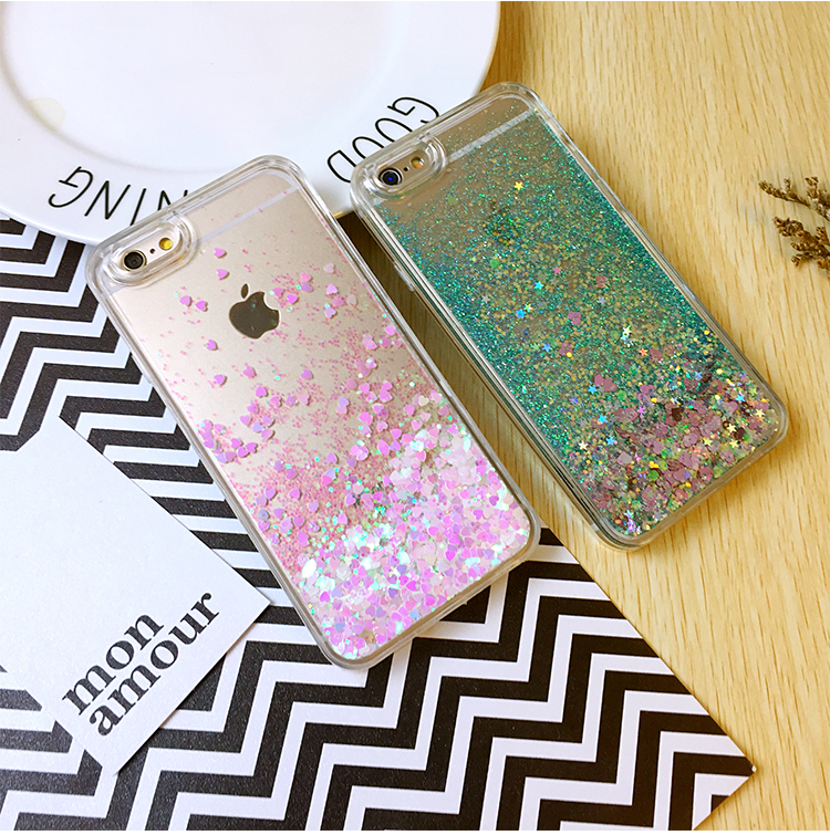 New Hot Sale Bling Bling Floating Liquid Phone Cover Glitter Phone Case for iPhone 6 / 6s / 6 Plus